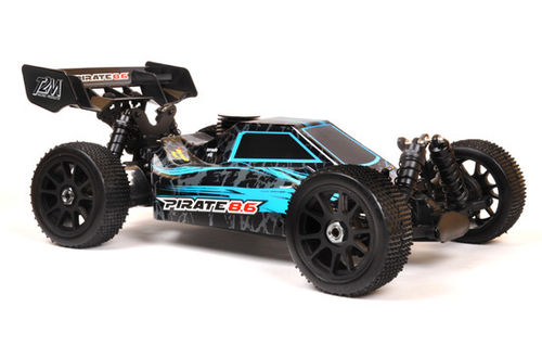 PIRATE 8.6 Blau 4WD 1/8 RC OFF ROAD Verbrennerbuggy
