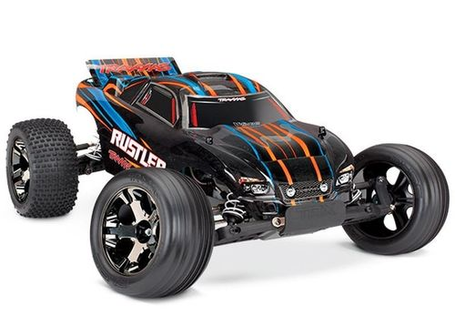 TRAXXAS RUSTLER VXL ORANGE BL OHNE AKKU/LADER 1/10 2WD STADIUM TRUCK BRUSHLESS